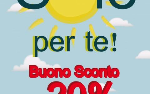 Sole per te! Buono Sconto – 20%